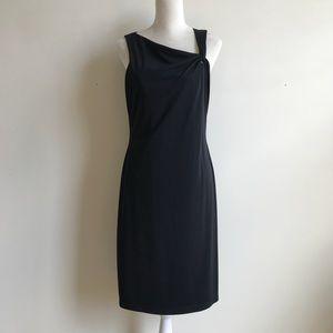 David Meister Essential LBD Black Cocktail Dress